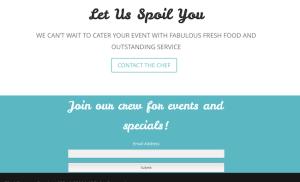 Signature Catering Screenshot- Email Capture